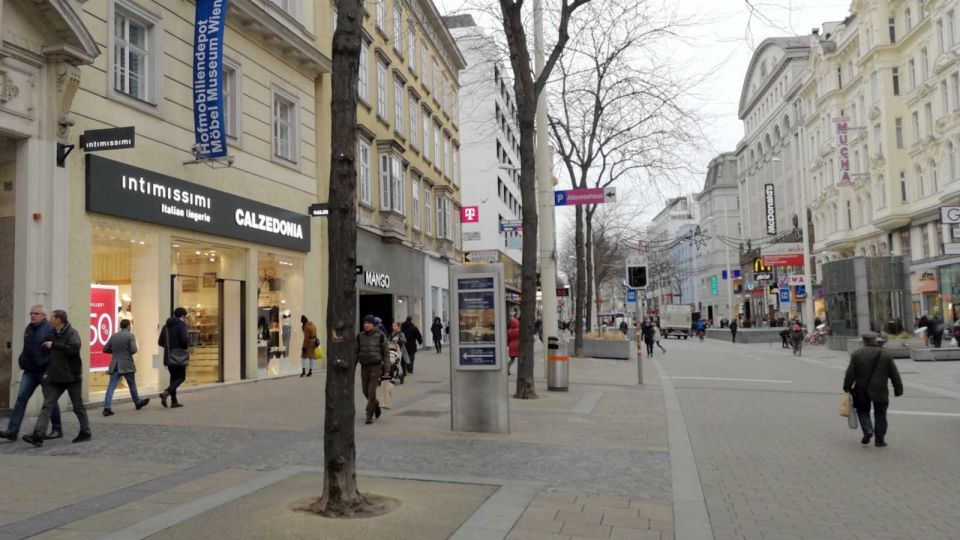 Mariahilfer Street Shopping-Boulevard in Vienna © echonet.at / rv